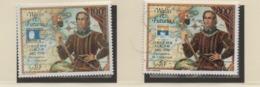 AB4 Wallis Et Futuna** 1992 Pa 173 Et 174 Christophe Colomb - Luftpost