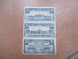 1902 LONDON  Franco British Exbihition N.3 Different Value Se Tenant Cinderella - Ensayos, Pruebas & Reimpresiones