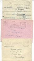 Russia & USSR - Lviv - Ukraine - Lot 3 Letters - Machine Stamps (ATM) Motive Sciences - Polytechnical Institute - Marcophilie - EMA (Empreintes Machines)