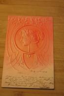 CPA PK  RELIEF Carte ART NOUVEAU EMBOSSED Cord Genre  KIRCHNER * MUCHA Nr3 - Künstlerkarten