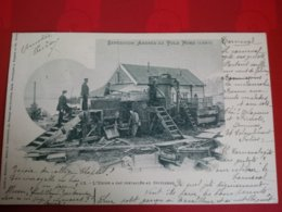 EXPEDITON ANDREE AU POLE NORD 1897 L USINE A GAZ INSTALLEE AU SPITZBERG - Cartes Postales