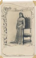 Breval Actress  Art Nouveau . Photo Reutlinger . Undivided Back. Decor Dolmen. Robe Gauloise - Entertainers