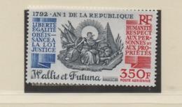 AB4 Wallis Et Futuna** 1992 PA Liberté égalité An 1 République - Luftpost