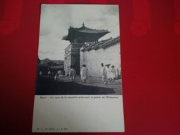 SEOUL UN COIN DE LA MURAILLE ENTOURANT LE PALAIS DE L EMPEREUR - Korea (Zuid)