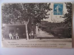 Cpa, Très Belle Vue Animée, Le Logis Neuf, Excursion à N.D. Des Anges, Hotellerie Pension, Services D'automobile .. - Francia