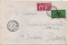 Mondiali Ciclismo £. 30 + Espreso Pegaso £. 75 Su Busta Con Annullo Brescia 18.03.1963 - Ciclismo