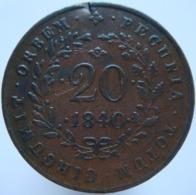 Mozambique 20 Reis 1840 VF / XF Rare - Mozambique