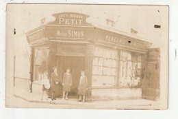 CARTE PHOTO - BERNAY - BONNETERIE MERCERIE LINGERIE - MOISE SIMON - 63 RUE THIERS - 1928 - 27 - Bernay