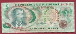 Philippines 5 Piso 1974/1985 (Sign9) Dans L 'état --(212) - Philippinen