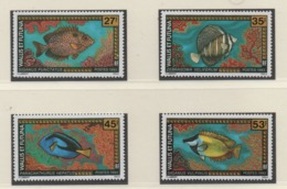 AB4 Wallis Et Futuna** 1993 451/452 457/458 Poissons - Luftpost