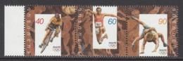 1996 Armenia Olympics Cycling Wrestling  Complete Strip Of 3 MNH - Armenia