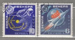 RUSSIA USSR 1961 Space Rocket Venire Mi 2468-2469 Used (o) #24641 - 1923-1991 URSS