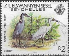 ZIL ELWANNYEN SESEL 1983 Birds - 2r - Western Reef Heron (Dimorphic Little Egret) FU - Seychelles (1976-...)