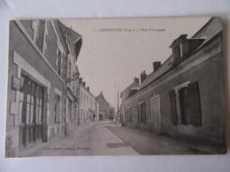 Cpa, Trés Belle Vue, Continvoir, Indre Et Loire, Rue Principale - Altri Comuni