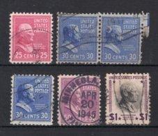 UNITED STATES Yt. 394/397° Gestempeld 1938 - United States