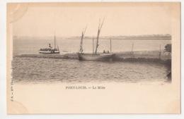 *** 56  ***  PORT LOUIS *** Le Môle *** J. B. Mlle Yhuel, Lorient *** Bateaux Vapeur Et Pêche ** Non Divisé Avant 1904 * - Port Louis