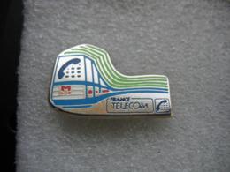 Pin's France Telecom: Telepnone Dans Les Transports Sur Rail - Telecom De Francia