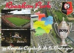 Stade De Football -Stade Roazhon Park-RENNES - Carte Géo- Coupe De France 2019- Capitale De La Bretagne - Cpm - Vierge - - Voetbal