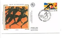 FDC 1992 J O ATHENES FRANCE-GRECE - FDC
