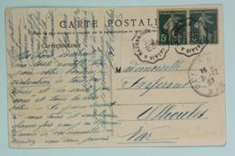 CP Pecheuse De Crevettes 1907, Affr. 10c Semeuse, Tad Convoyeur Ligne Calais à Hazebrouck --> Ollioules Var - France