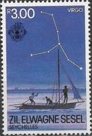 ZIL ELWANNYEN SESEL 1984 The Night Sky - 3r - Virgo MH - Seychelles (1976-...)