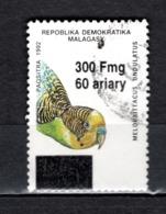 MADAGASCAR N° 1681P  SURCHARGE LOCALE OBLITERE   COTE  ? €   OISEAUX ANIMAUX - Madagascar (1960-...)