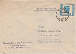 314 Berühmte Persönlichkeiten Avicenna Als EF Auf Auslands-FDC BERLIN 11.8.1952 - DDR