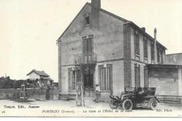 PONTIGNY LA GARE ET LHOTEL DE LA GARE - Pontigny