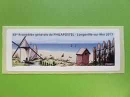 Vignette LISA Vierge - 65ème Assemblée Générale De PHILAPOSTEL - Longeville-Sur-Mer 2017 - Moulin à Vent - 2010-... Viñetas De Franqueo Illustradas