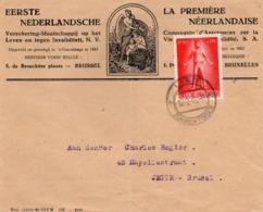 N° 707 Sur Lettre Commerciale (assurances) De Lier Vers Bruxelles - Belgien