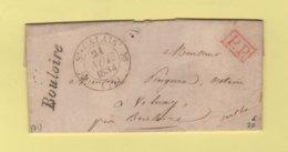 Bouloire - 71 - Sarthe - Cursive - St Calais - 21 Nov 1834 - PP Port Paye - 1801-1848: Precursors XIX