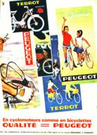 """PUB CYCLOMOTEURS Et BICYCLETTE """" PEUGEOT """"  1964 - Sonstige"""