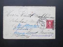 USA 1913 Beleg Von Tenafly Nach Elbing Und Von Dort Weitergeleitet Nach Allenstein Mit Handschriftlichem Vermerk Rücksei - Briefe U. Dokumente