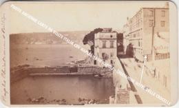 PHOTO ANCIENNE CARTE DE VISITE ITALIA CDV NAPLES +/- 1870 NAPOLI - CHIATAMINE HOTEL DELLE CROCELLE - Napoli (Naples)
