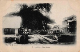 Nigeria West Africa Lagos The Marina Voie De Chemin De Fer Cliché C. F. A. O. - Nigeria