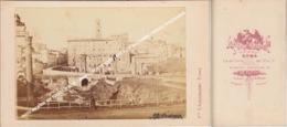 PHOTO ANCIENNE CDV VERS 1870 ROME / ROMA / CARTE DE VISITE / EDIT Fili D' ALESSANDRI / FRATELLI D'ALESSANDRI - Zonder Classificatie