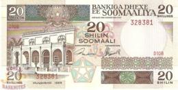 SOMALIA 20 SHILLINGS 1989 PICK 33d UNC - Somalië
