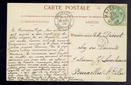 5c Vert Sans Bandelette Dominicale / CP Vue Daverdisse-sur-Lesse De * Maissin * 22 SEPT 08 Vers St Gilles - Marcophilie