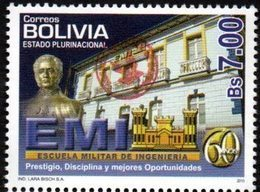 Bolivia 2018 ** CEFIBOL 2325 (Emision 2010 ECOBOL #2085) Escuela Militar De Ingeniería (EMI). - Bolivia