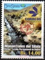 """Bolivia 2018 ** CEFIBOL 2310 (2016 #2293) Manantiales Del Silala. Habilitado """"Agencia Correos"""" . - Bolivia"""