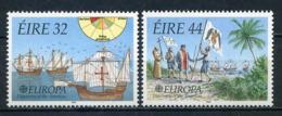 Irlande YT 795-796 XX / MNH Europa 1992 Voilier Bateau Navire Ship Boat - 1949-... República Irlandése