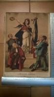 """Affichette / Gravure Patriotique """" La République Française - Circa 1875 - Thiers - Gambetta - Format 22,5 X 31 Cm - Afiches"""