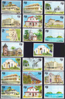 Fiji 1979-94 Big Lot Buildings And Sights Definitives From Different Printings, All Different, E.g. 50c Of 1994!, Used O - Fiji (1970-...)