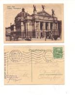FB143 POSTCARD UKRAINA LEMBERG LWOW 1913 Stamps AUSTRIA - Ucraina