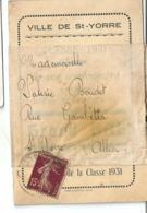 Invitation Bal Des Conscrits 16 Novembre 1930 Classe 1931 Ville De Saint Yorre (Allier) Salle Nouveau Prado - Faire-part