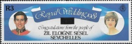 ZIL ELWANNYEN SESEL 1983 - Prince Charles And Lady Diana Spencer Surcharged - 3r.on 10r Multicoloured MNH - Seychelles (1976-...)
