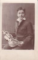AK Foto Junger Mann Mit Geige - Ca. 1930  (45184) - Muziek En Musicus