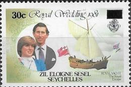 ZIL ELWANNYEN SESEL 1983 - Royal Escape Surcharged - 30c.on 40c Multicoloured MNH - Seychelles (1976-...)