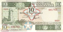 SOMALIA 10 SHILLINGS 1987 PICK 32c UNC - Somalie