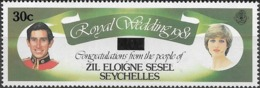 ZIL ELWANNYEN SESEL 1983 - Prince Charles And Lady Diana Spencer Surcharged - 30c.on 40c Multicoloured MNH - Seychelles (1976-...)